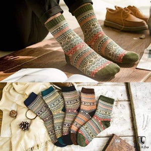 Patterns of Winter Comfy Socks - Socks to Buy 10