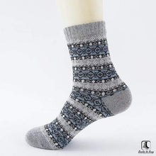 Load image into Gallery viewer, Patterns of Winter Comfy Socks - Socks to Buy 9