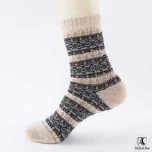 Load image into Gallery viewer, Patterns of Winter Comfy Socks - Socks to Buy 11