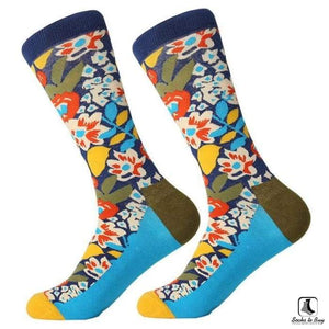 Pretty Flowers Combed Cotton Socks - Socks to Buy 1