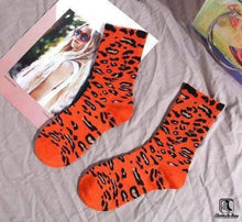 Load image into Gallery viewer, Rainbow Leopard Print Cotton Tube Socks - Socks to Buy 2