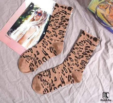 Load image into Gallery viewer, Rainbow Leopard Print Cotton Tube Socks - Socks to Buy 3
