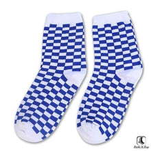 Load image into Gallery viewer, Sillitoe Square Tiling Check Socks - Socks to Buy 4