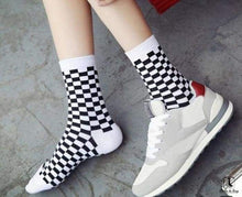 Load image into Gallery viewer, Sillitoe Square Tiling Check Socks - Socks to Buy 1