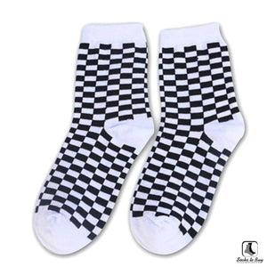 Sillitoe Square Tiling Check Socks - Socks to Buy 5