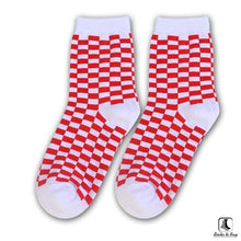 Load image into Gallery viewer, Sillitoe Square Tiling Check Socks - Socks to Buy 3