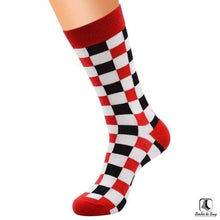 Load image into Gallery viewer, So Square Sillitoe Tartan Checker Pattern Socks