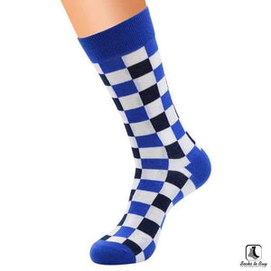 So Square Sillitoe Tartan Checker Pattern Socks