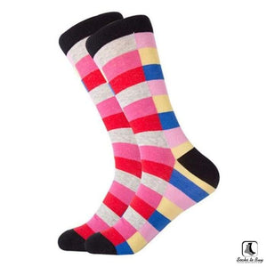 Stripes on Stripes Combed Cotton Socks - Socks to Buy 1