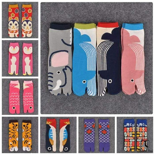 Super Samurai Prints Split-Toe Tabi Socks - Socks to Buy 1