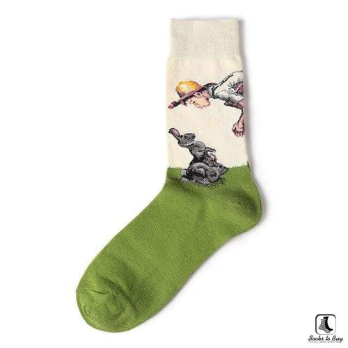 This American Life Normal Rockwell Style Leisure Dress Art Socks - Socks to Buy 1