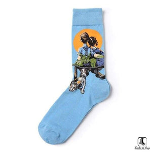 This American Life Normal Rockwell Style Leisure Dress Art Socks - Socks to Buy 4