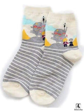 Load image into Gallery viewer, Totoro Inspired Anime Striped Socks