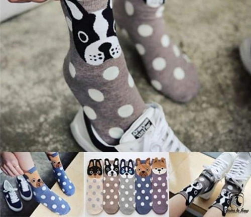 Woof! Bark! Roof! Dog Socks - Socks to Buy 1