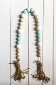 Falmouth Hand Painted Wooden Bead Garland - Salt and Branch