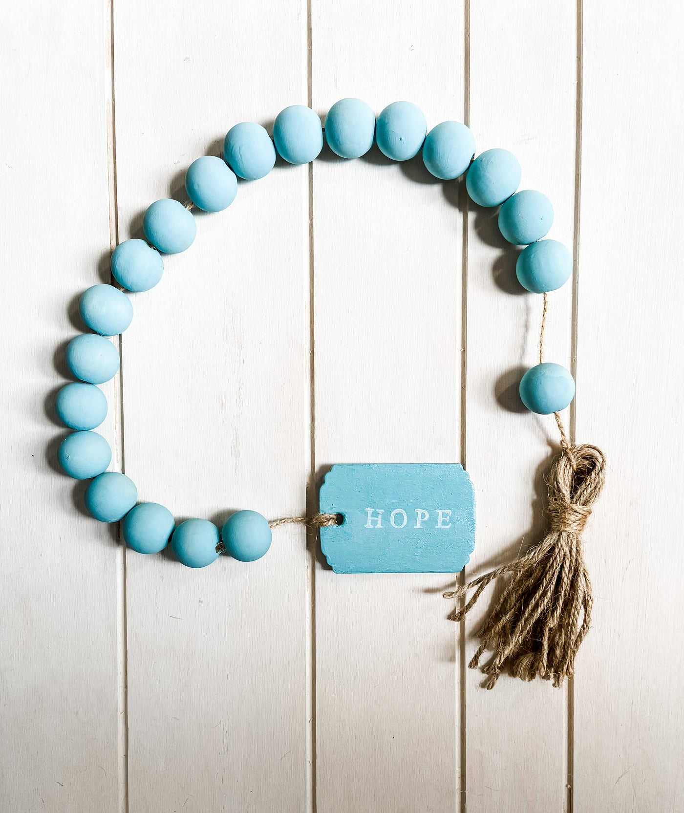 Hope Hand Painted Wooden Bead Garland - Salt and Branch