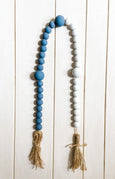 Nantucket Hand Painted Wooden Bead Garland - Salt and Branch