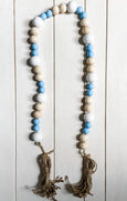 Nauset Beach Hand Painted Wooden Bead Garland - Salt and Branch