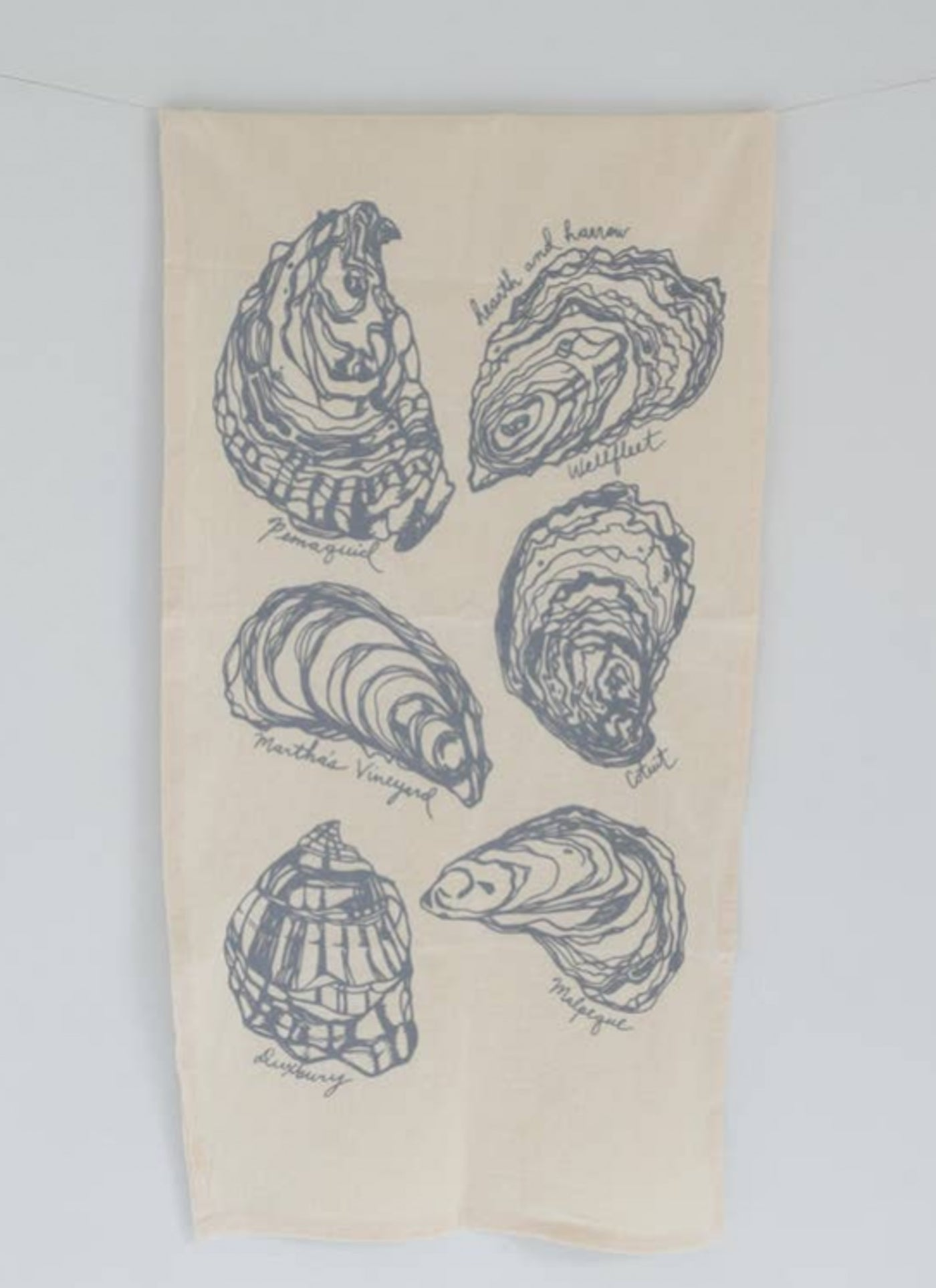 Oyster Tea Towel, Grey - Salt and Branch