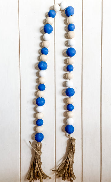 Quincy Hand Painted Wooden Bead Garland - Salt and Branch
