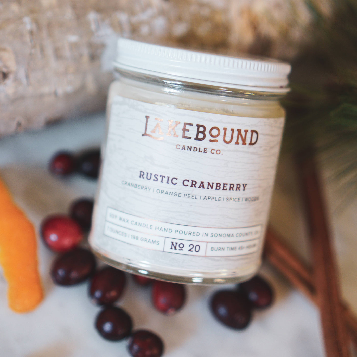 Rustic Cranberry Soy Candle - Salt and Branch