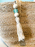Boho Sea Glass Keychain with Tassel - Salt and Branch