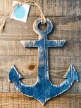 Anchor Wooden Hanger/Navy - Salt and Branch