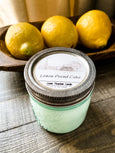 Aqua Blue Mason Jar Soy Candle, Lemon Pound Cake - Salt and Branch