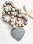 Driftwood Gray Heart Garland - Salt and Branch