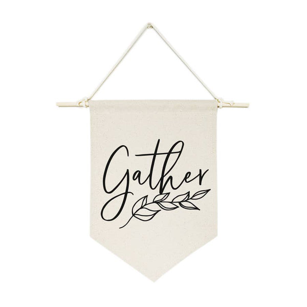 Gather Hanging Wall Canvas Banner - Salt and Branch