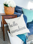 Hello Sunshine Pillow Cover - Salt and Branch