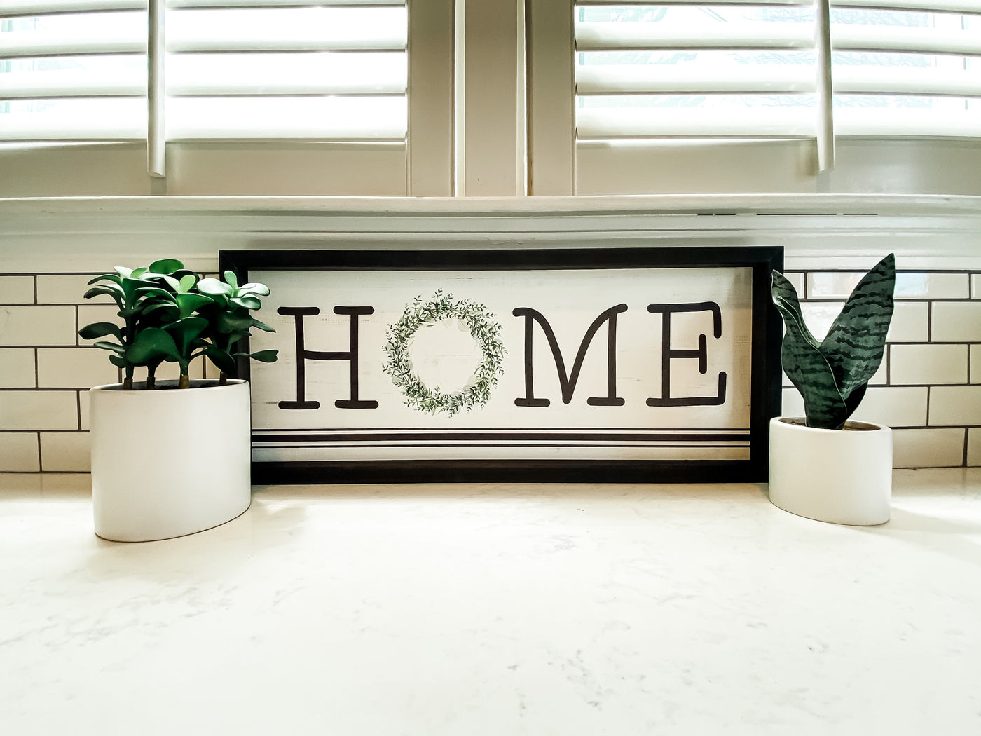 Home Wreath Sign - Salt and Branch