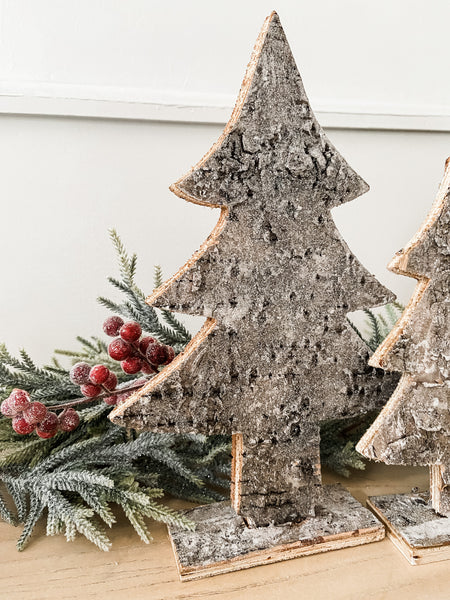 Glitter Birch Bark Tree-- Large - Salt and Branch