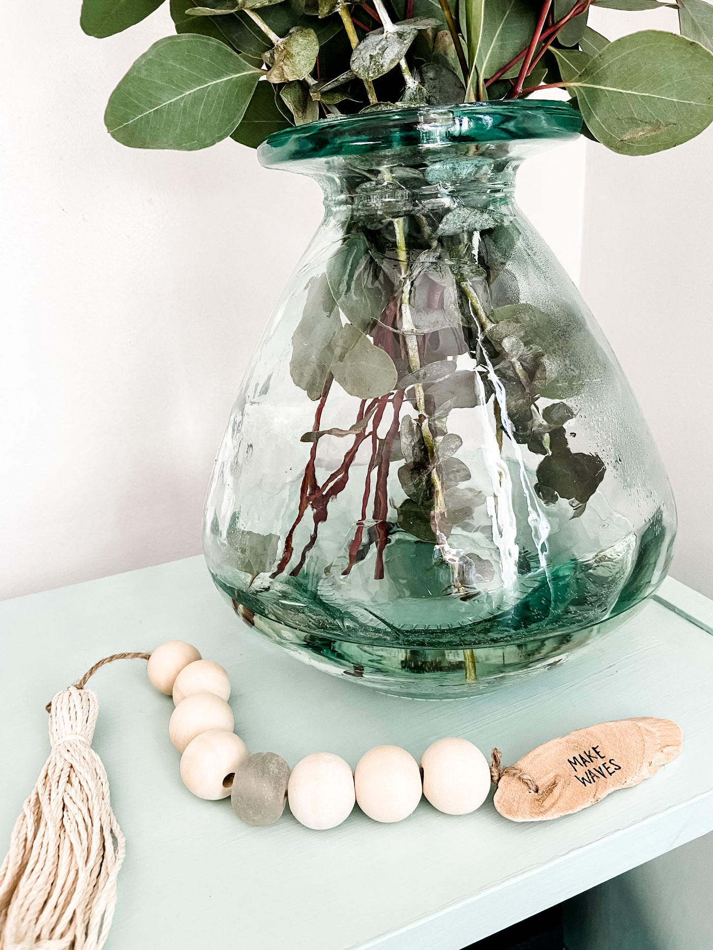 Hand Painted Sea Glass Tassel-- Make Waves - Salt and Branch