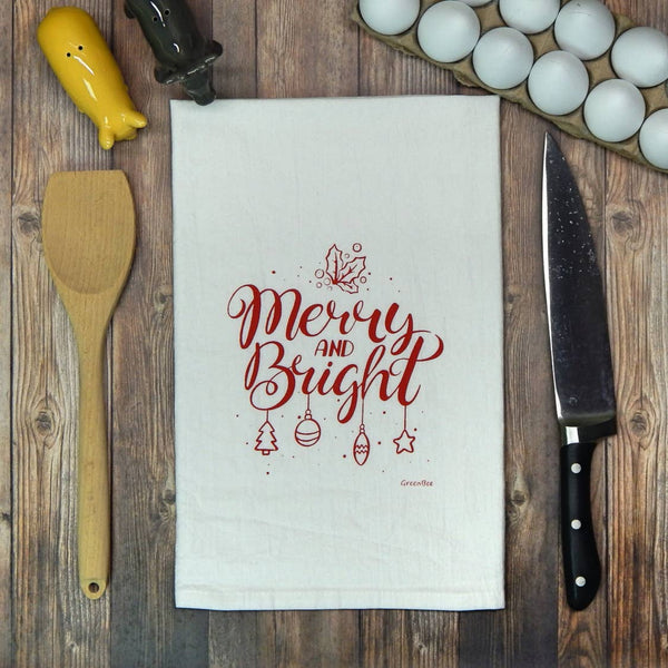 Merry and Bright Tea Towel - Salt and Branch