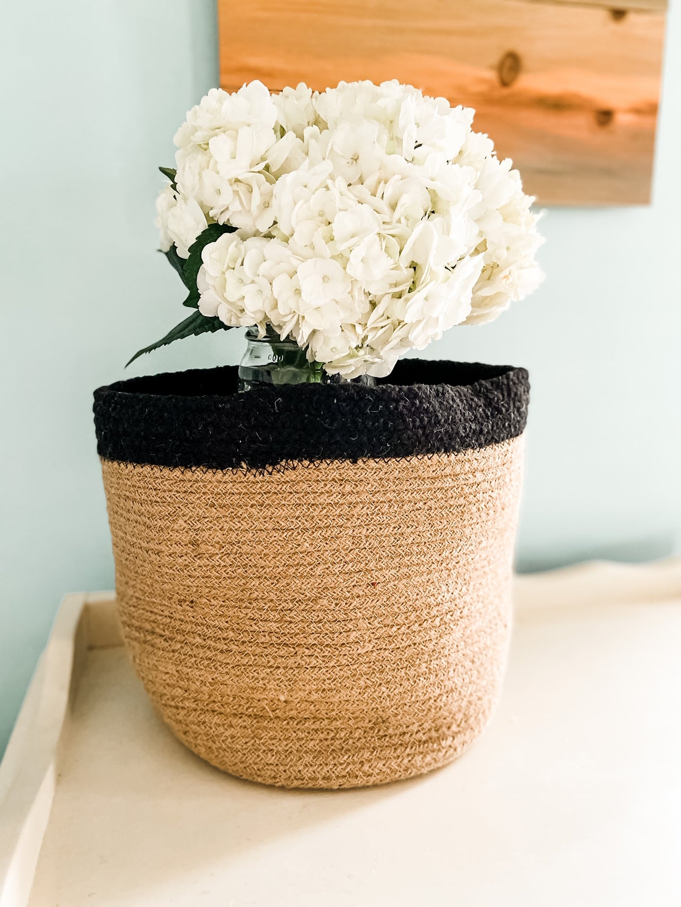 Oak Jute Basket - Salt and Branch