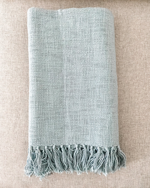 Hand Woven Ocean Throw - Salt and Branch