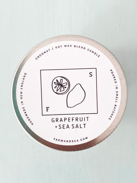 Grapefruit + Sea Salt Candle, small - Salt and Branch