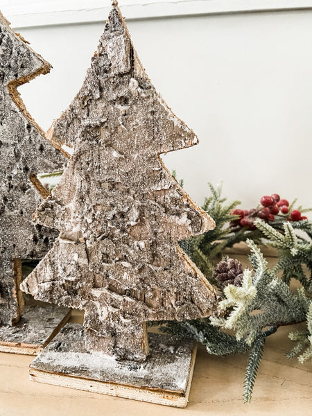 Glitter Birch Bark Tree-- Small - Salt and Branch