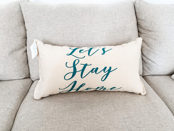Let's Stay Home Lumbar Pillow - Salt and Branch