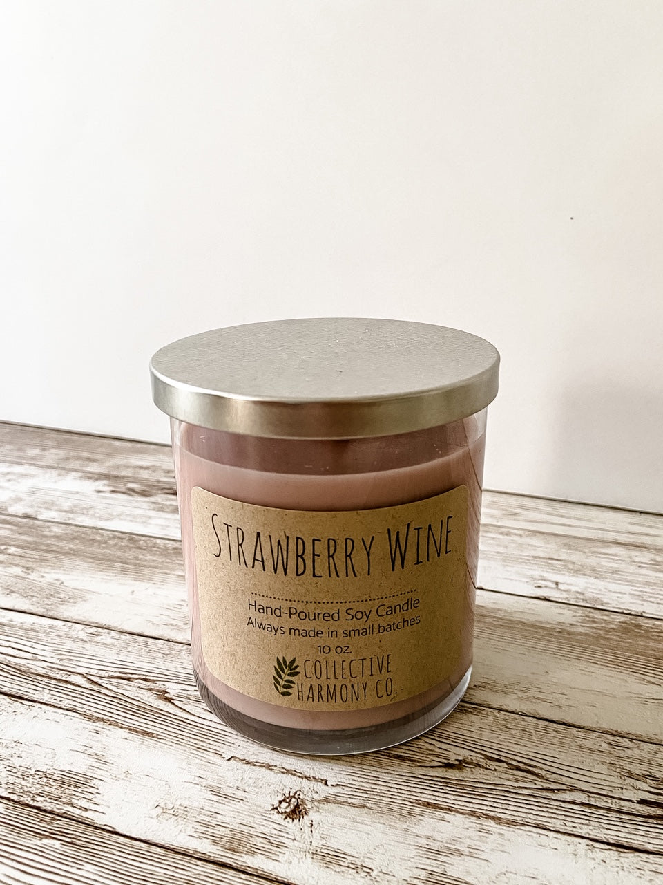 Strawberry Wine Soy Candle, large - Salt and Branch