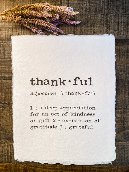 Thankful 8x10 Print - Salt and Branch