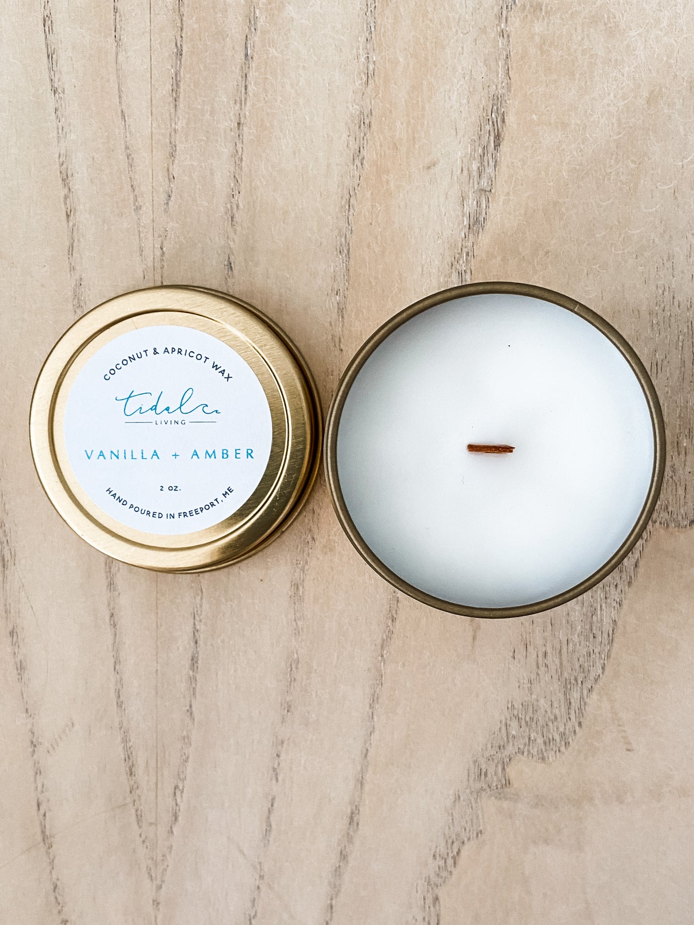Vanilla and Amber Candle - Salt and Branch