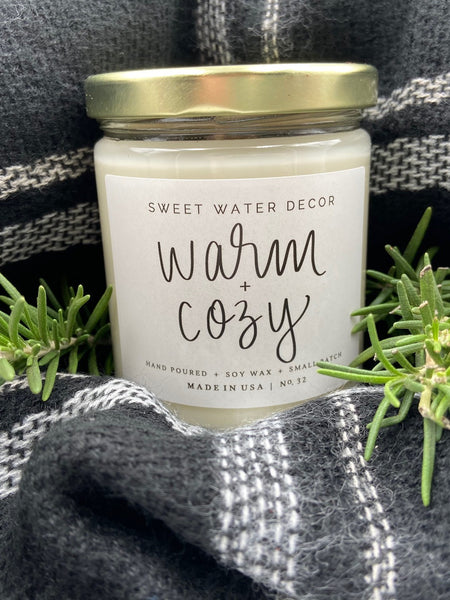 Sweet Water Decor Warm and Cozy Soy Candle - Salt and Branch