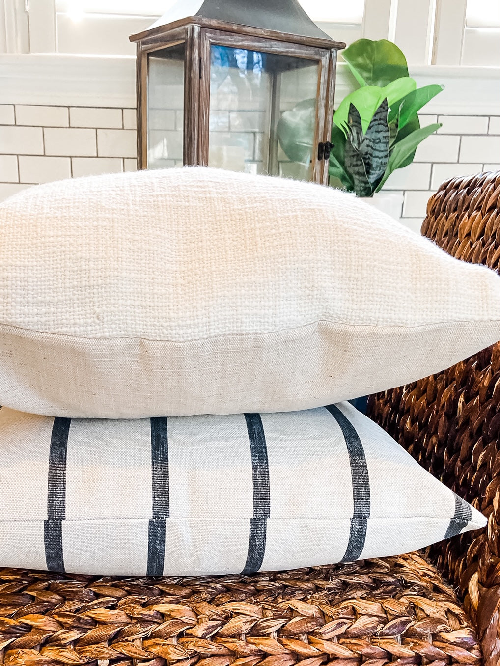 White Textured Pillow Cover - Salt and Branch