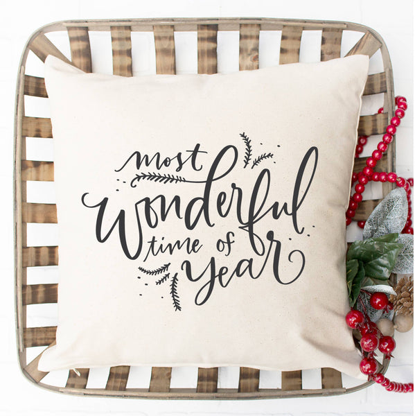 Most Wonderful Time of the Year Pillow Cover - Salt and Branch