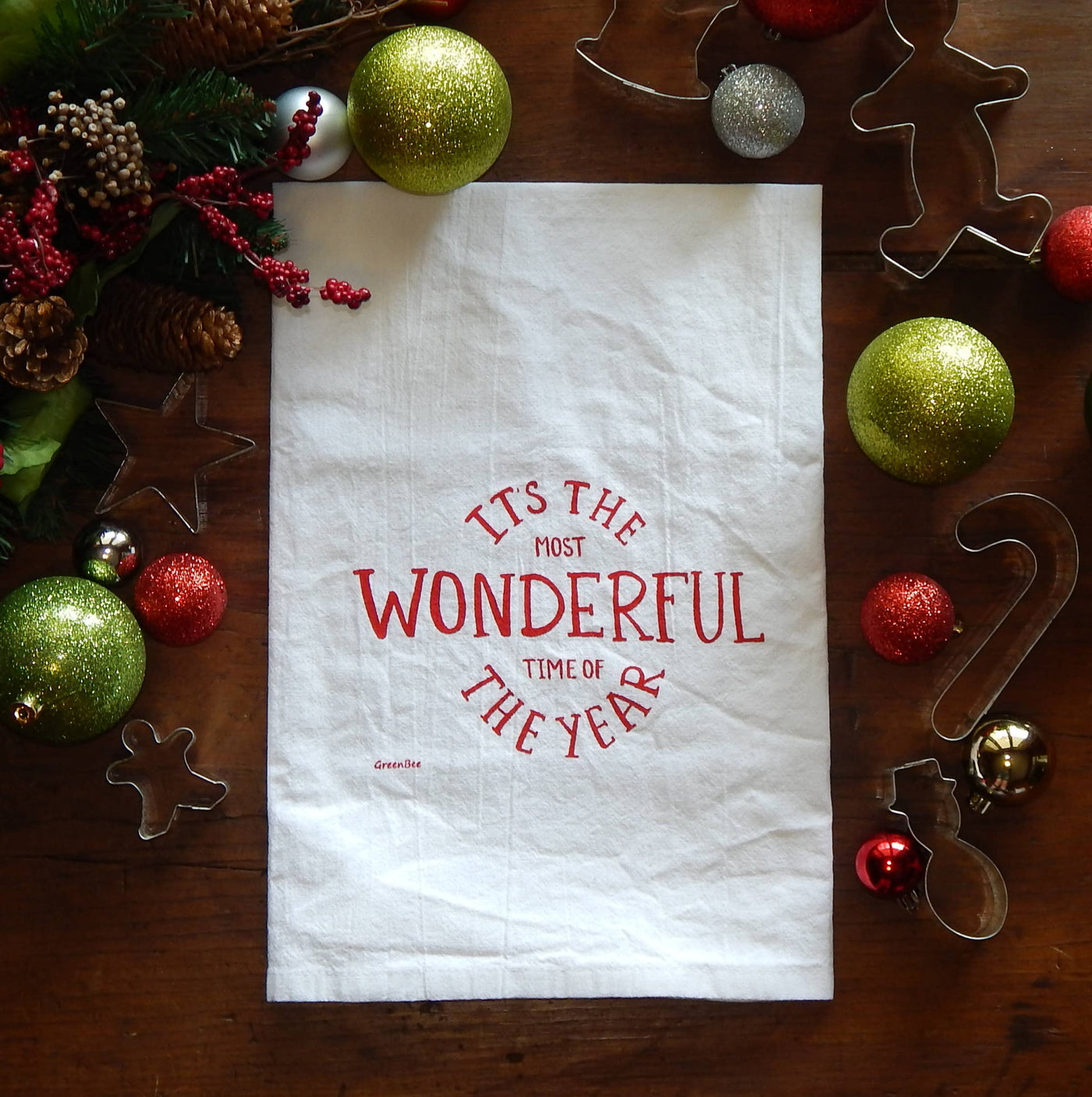 It's The Most Wonderful Time of the Year Tea Towel - Salt and Branch