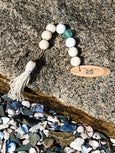 Hand Painted Sea Glass Tassel-- You are the sun - Salt and Branch