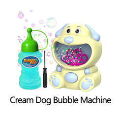 cream dog bubble machine
