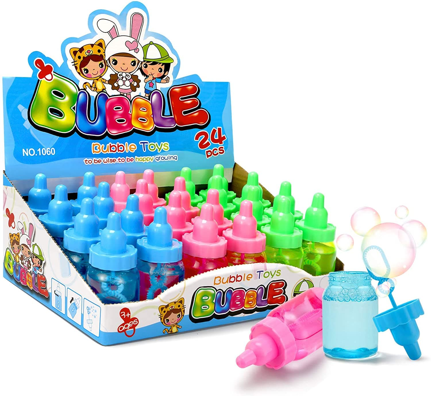 WisToyz Bottle Bubble Wand Set
